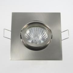 Einbaurahmen 4-eckig Eisengebürstet + Halogen Strahler GU10 oder MR16