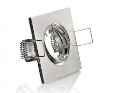 Einbaustrahler Einbaurahmen MR11 eisengebürstet 4-eckig
