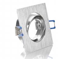 Alu Einbaustrahler viereckig 4-eckig schwenkbar Klickverschluss