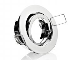Einbaurahmen Einbaustrahler chrom Rund mit Bajonettverschluss