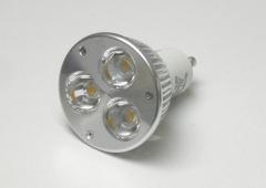 3x2W GU10 230V Power LED Strahler Dimmbar Kaltweiß