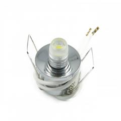 30er Sternenhimmel Set LED G4  + Einbauspot chrom Rund inkl. Trafo