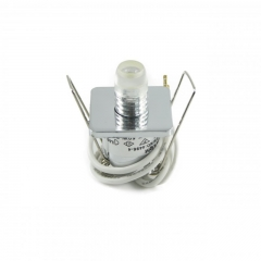 30er Sternenhimmel Set LED G4 + Einbauspot viereckig Eisengebürstet inkl. Trafo