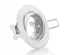 Metall Einbaustrahler Weiß Rund schwenkbar ideal für LED