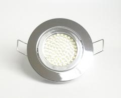 Einbaustrahler Set 60 LED GU10 + Rahmen chrom Rund schwenkbar