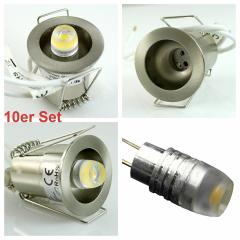 10er Set Power LED Sternenhimmel Einbaustrahler inklusive Trafo