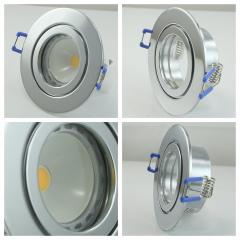 LED Einbaustrahler Feuchtraum 1x4W COB GU10 + Einbaurahmen IP44 Chrom Rund Klickverschluss