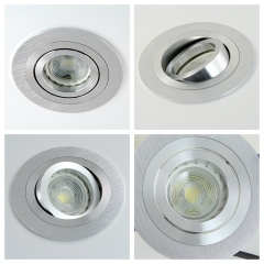 LED Einbaustrahler Set Aluminium Einbauleuchte mit 5W 230V GU10 Leuchtmittel