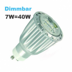 7W GU10 Power LED Strahler warmweiß Dimmbar 350 Lumen