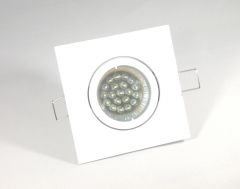 Einbaustrahler Set 20 LED GU10 + Einbaurahmen 4-eckig weiß schwenkbar