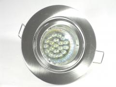 Einbaustrahler Set 20 LED GU10 + Einbaurahmen Alu gebürstet schwenkbar