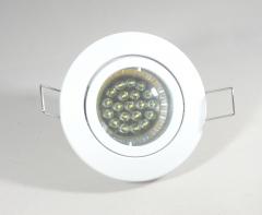 Einbaustrahler Set 20 LED GU10 + Einbaurahmen weiß Rund schwenkbar