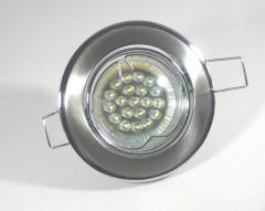 Einbaustrahler Set 20 LED GU10 + Einbaurahmen Chrom-Eisengebürstet schwenkbar