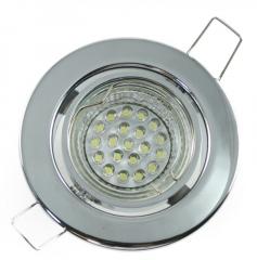 Einbaustrahler Set 20 LED GU10 + Einbaurahmen chrom Rund schwenkbar
