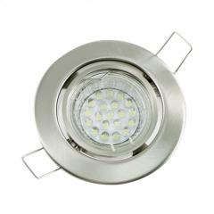 Einbaustrahler Set 20 LED GU10 + Einbaurahmen eisengebürstet Rund schwenkbar