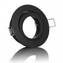 LED Einbaustrahler schwarz rund schwenkbar mit Klickverschluß