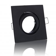 LED Einbaustrahler schwarz viereckig schwenkbar mit Klickverschluß