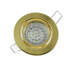 Einbaustrahler Set 20 LED GU10 + Einbaurahmen Messing Rund schwenkbar