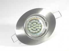 Einbaustrahler Set 20 LED GU10 + Einbaurahmen Oval eisengebürstet schwenkbar