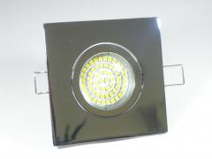 Einbaustrahler Set 60 SMD GU10 + Einbaurahmen 4-eckig chrom schwenkbar