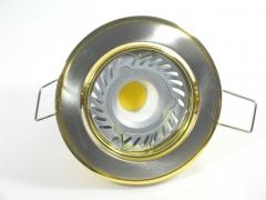 Einbaustrahler Set 1x4W GU10 + Einbaurahmen Messing-Eisengebürstet schwenkbar