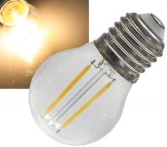 LED Tropfenlampe E27 Filament T4