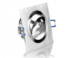 Aluminium Einbaustrahler Bicolor viereckig gebürstet schwenkbar