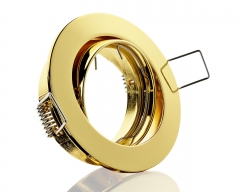 Metall Einbaustrahler Messing glänzend