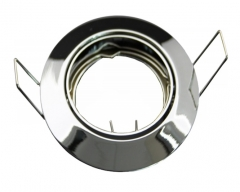 Metall Einbaustrahler Chrom Rund glänzend