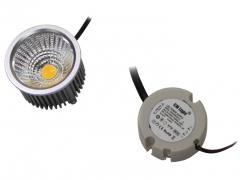 5W Power LED COB Strahler 18-22V mit Netzteil kaltweiß
