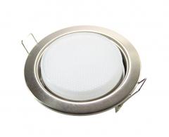Metall Einbaustrahler GX53 eisengebürstet mit 6W LED 230V
