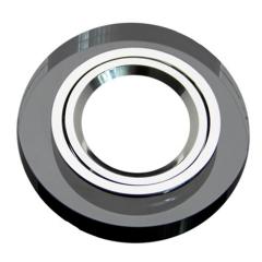 Kristall Einbaustrahler Rund Schwarz für GU10 u. MR16