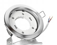 6x Metall Einbaustrahler GX53 eisengebürstet