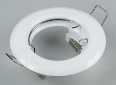 Metall Einbaustrahler Einbaurahmen weiß starr Ø80mm