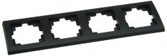 matt-schwarzer DELPHI 4-fach Rahmen