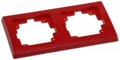 roter DELPHI 2-fach Rahmen