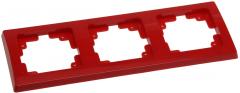 roter DELPHI 3-fach Rahmen