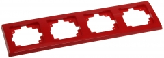 roter DELPHI 4-fach Rahmen