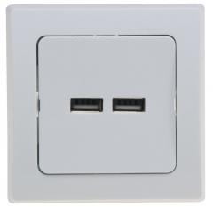 DELPHI USB-Ladedose 2-fach, weiß
