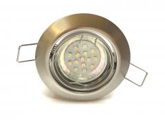Metall Einbaustrahler Set 15 SMD GU10 Eisengeb. Rund schwenkbar