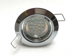 Metall Einbaustrahler Set 15 SMD GU10 Chrom Rund schwenbar