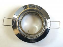 Metall Einbaustrahler chrom Rund schwenkbar inkl. GU10 Fassung