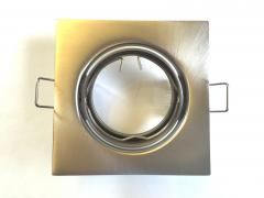 Metall Einbaustrahler eisengeb. schwenkbar inkl. GU10 Fassung