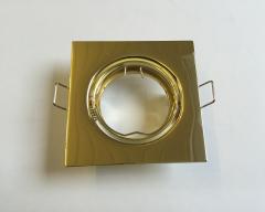 Metall Einbaustrahler Messing-Gold schwenkbar inkl. GU10 Fassung
