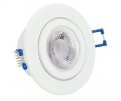 IP44 GU10 LED Feuchtraum Einbaustrahler Set 5W Weiß rund 230V