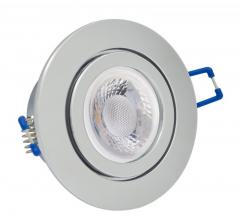 IP44 GU10 LED Feuchtraum Einbaustrahler Set 5W Chrom rund 230V
