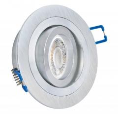 Einbaustrahler mit 5W LED Modul dimmbar Einbauspot Alu Rund Bicolor schwenkbar 30mm Einbautiefe